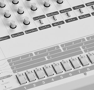 Close Up of Synthesizer