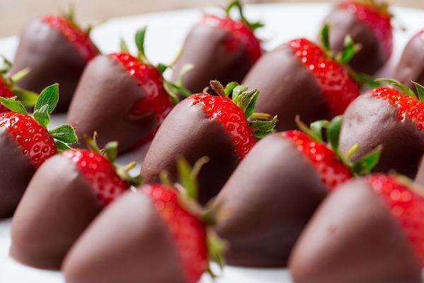 Fresas cubiertas de chocolate