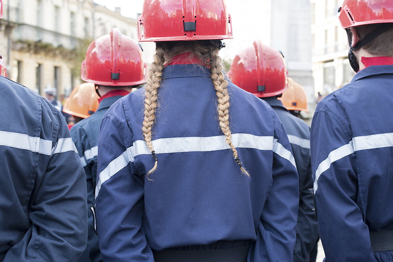 Women with Helmets