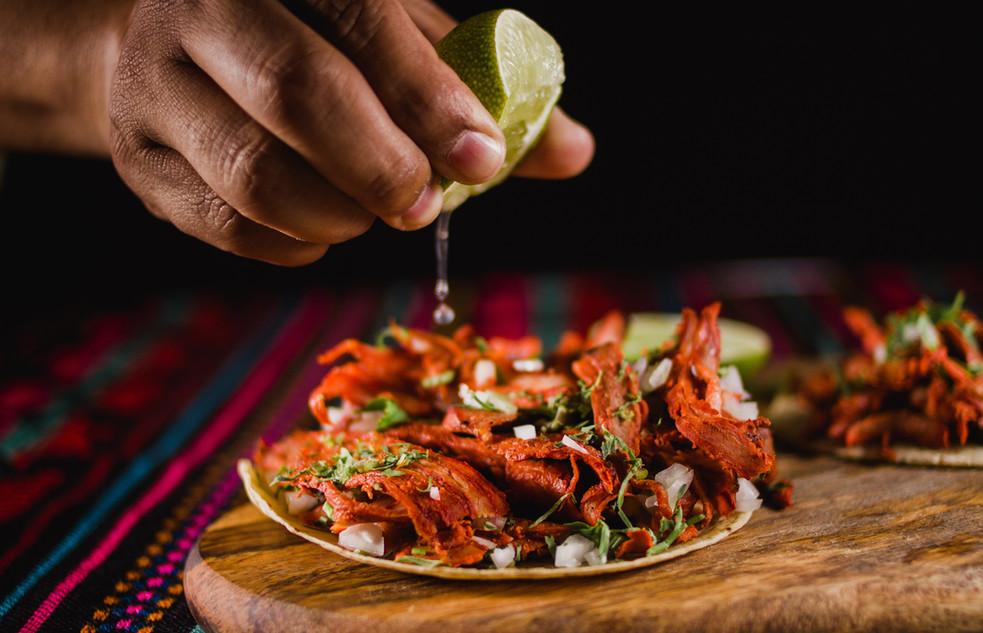 Preparing a Taco