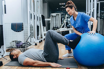 Physical Therapy using ball