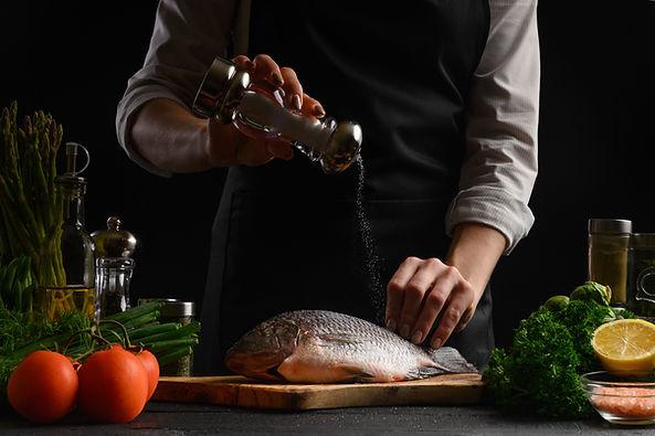 Préparation d'un poisson