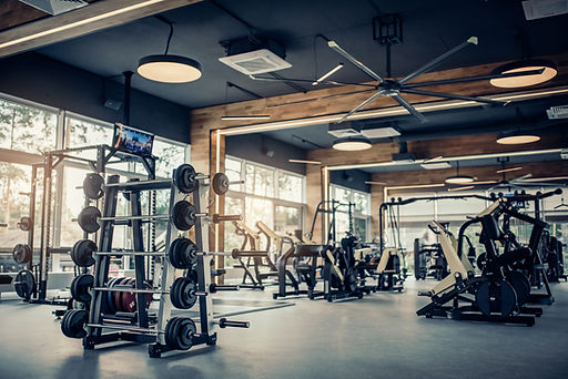 An image of a gym. The image shows lost of free weights, dumbbells, barbells and exercise machinary such as running machines, rowing machines and CrossFit equipment. This image heads the Hungry4Fitness blog page on the best home gym equipment.