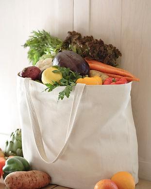 有機性果物と野菜の袋