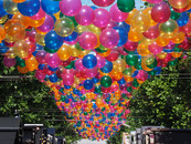 Balloons Hanging in the Street Inspiration