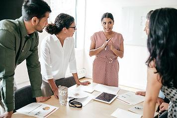 Incontro di gruppo, riunione di squadra