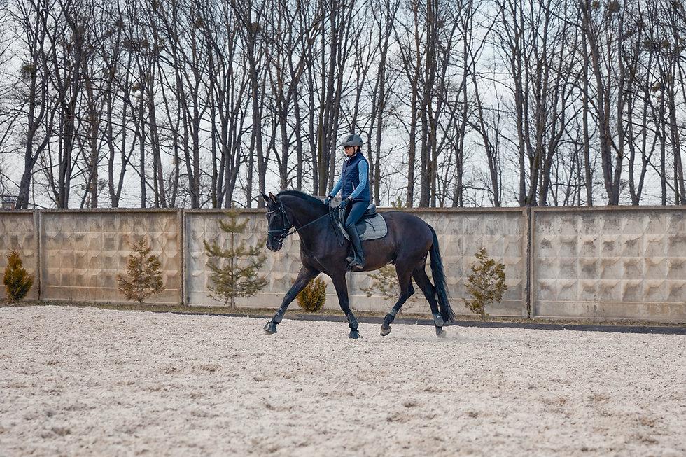 Woman Riding a Horse