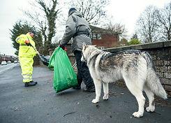 Cleaning Street Litter