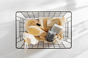 Basket of Bath Accessories