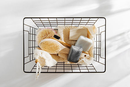 Basket of Bath Accessories