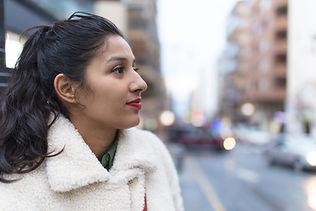 Woman with Warm Jacket