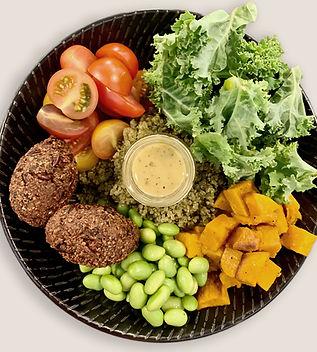 Salade végétalienne saine