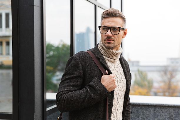 Mann mit Brille