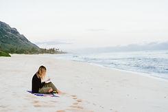 Writing on Beach