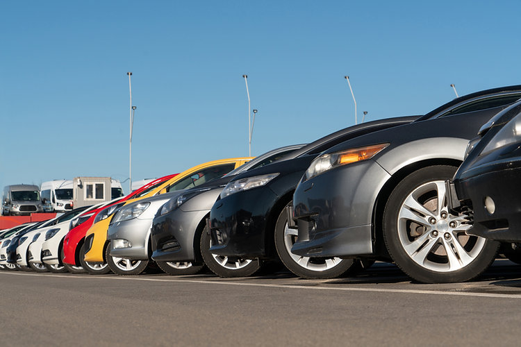 Banner Image with a front view of cars lined up to represent the automotive industry of Reliable Autotech