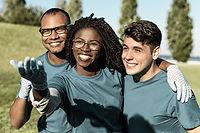 Happy Team Posing