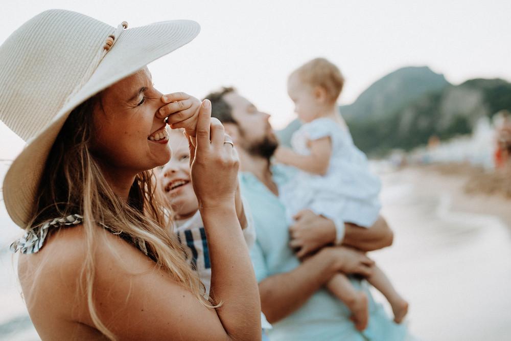 famille Biscarrosse plage