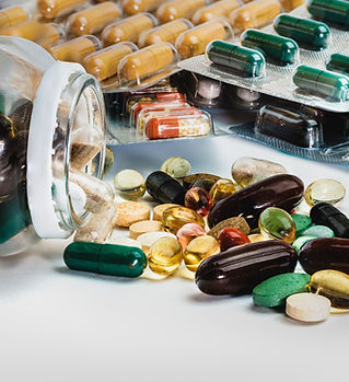 Assortimento di pillole