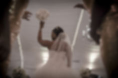 Woman Throwing Bouquet