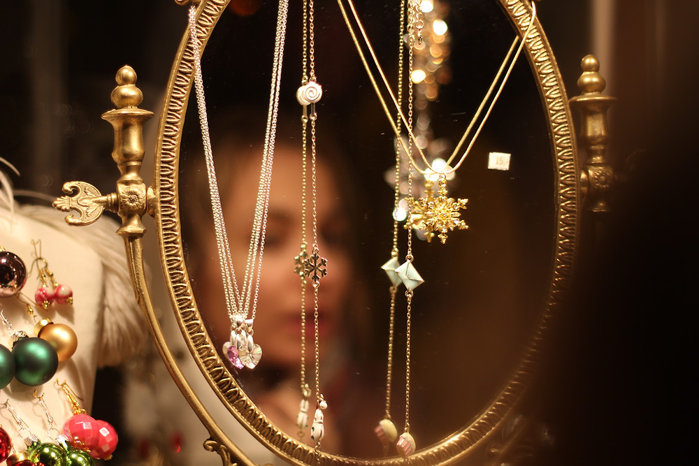 Pretty necklaces and reflection of self with Peninsula Family Coaching