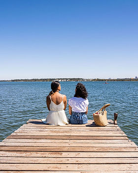 Friends by the Lake