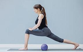 Pilates class: strengthening of power house/abdominal belt