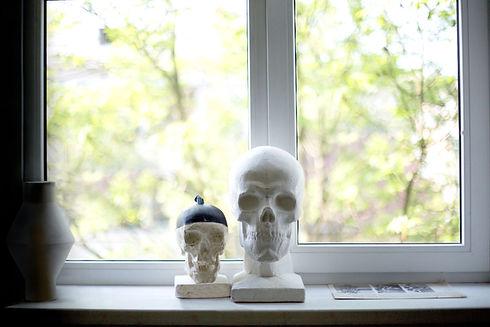 Skulls on Windowsill