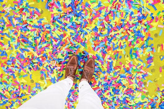 Walking Through Confetti