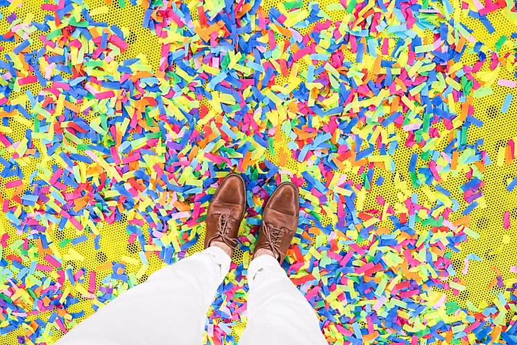 Walking Through Confetti