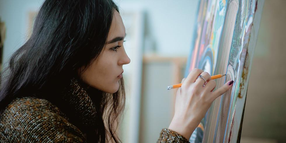 Model painting in Paris, winter workshop 2021