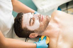 Man Getting a Facial