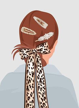 Fille avec des épingles à cheveux