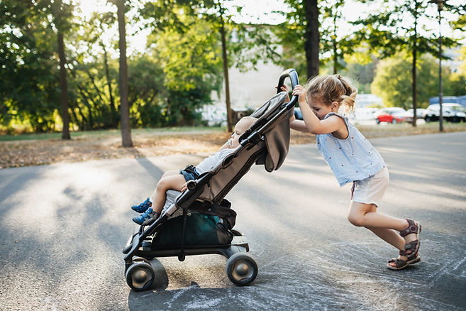 Pushing a Stroller