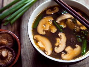 MISO SOUP WITH SHITAKE MUSHROOMS