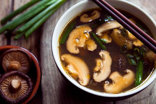 Creamy Mushroom-Wild Rice & Vegetable Soup