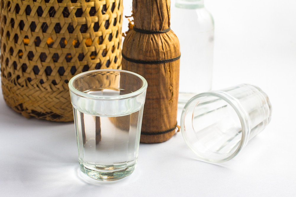 glass cup with water