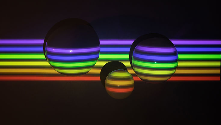 3D Balls in Pride Colors