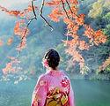 Розовое озеро кимоно