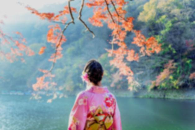 Kimono du lac rose