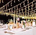 Table de mariage la nuit