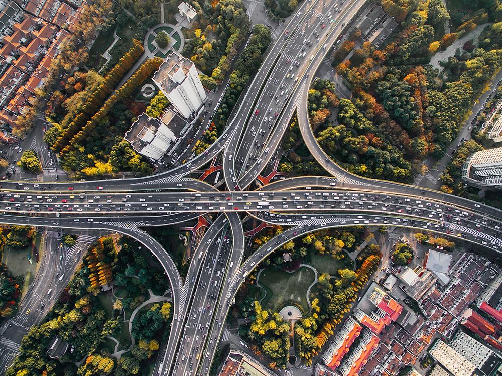 High traffic on the bridges
