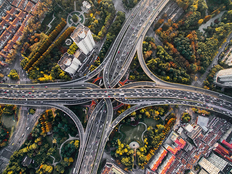 Aerial View of Flyover Bridges