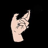 ロリポップを持っている手