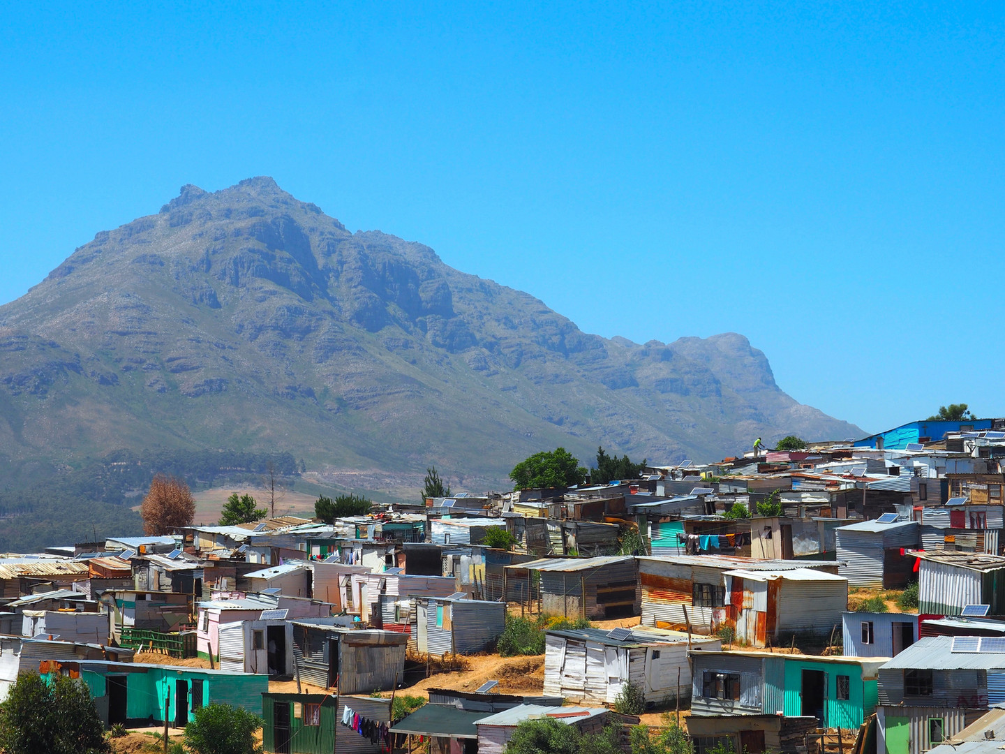 Informal settlement on the outskirts of the city