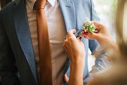 スーツの花