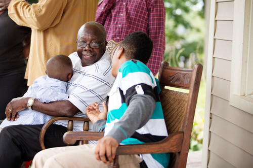 Man with Grandsons