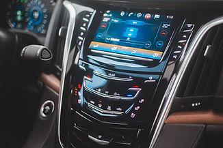 Controles do painel do carro
