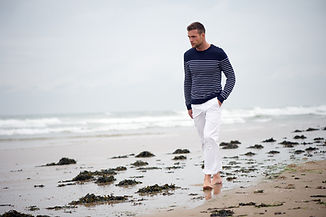 Man op strand