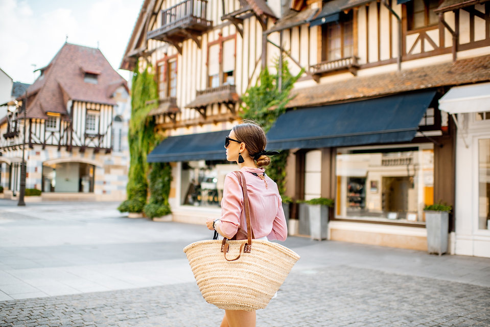 Woman in Deauville