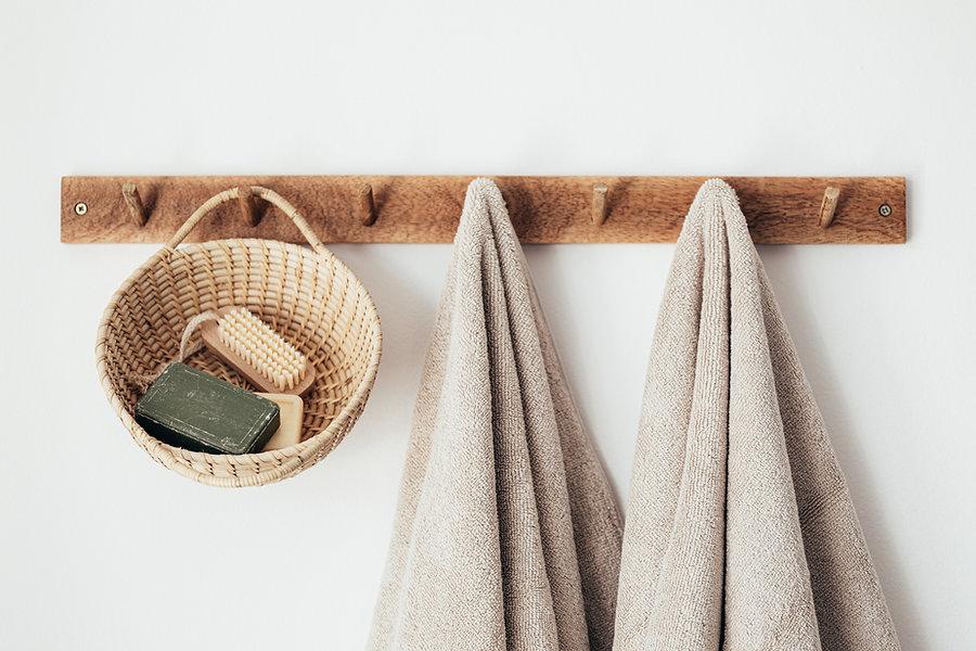 Kapstok met handdoeken